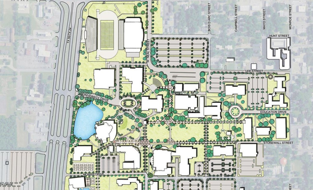 Texas Am Campus Map.Texas A M University Commerce Master Plan Rvi